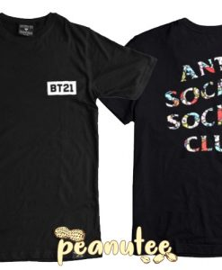 Anti Social Social Club x BT21 BTS Blended T Shirt