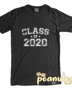 Class of 2020 Text With Stars T Shirt
