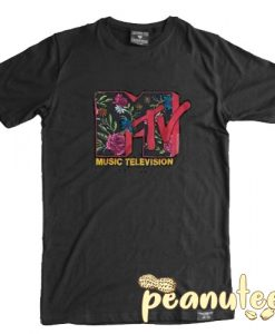 MTV flower logo T Shirt