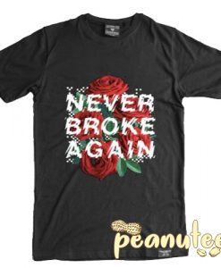 Never Broke Again Rose Checkers T Shirt