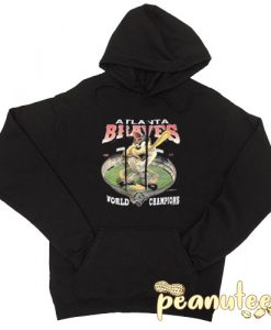 1993 Atlanta Braves Taz Black color Hoodies