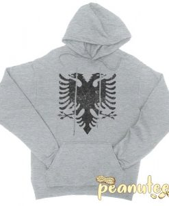 Albanian Eagle Grey color Hoodies