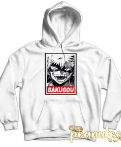 Bakugou My Hero Academia White color Hoodies