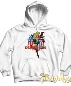 Bombshell American Dream Girl White color Hoodies