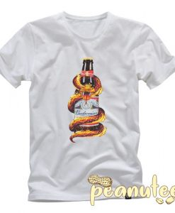 Budweiser snake bottle king of beers T Shirt