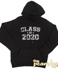 Class of 2020 Text With Stars Black color Hoodies