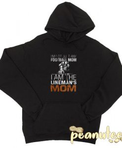 I'm Not Just Any Football Mom Black color Hoodies