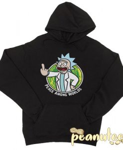 Peace Among Worlds Portal Rick And Morty Hoodie pullover
