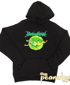 Rick And Morty Portal Glow Lightning Logo Hoodie pullover
