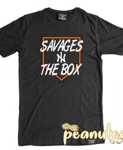 Savages in the Box Letter T Shirt