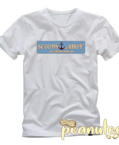 Scoops Ahoy Ice Cream Parlour Retro T Shirt