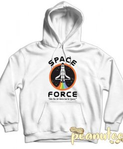 Space Force Like the Air Force White color Hoodies