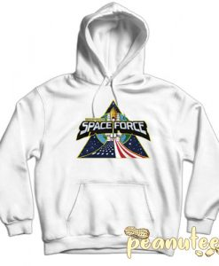 Space Force President Trump White color Hoodies