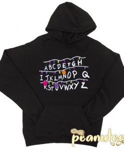 Stranger things Alphabet Christmas Lights Hoodie pullover