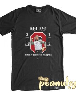 Urban Meyer at Ohio State Thank You for The Memories T Shirt