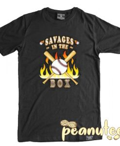 Yankees Savages In The Box On Fire T Shirt