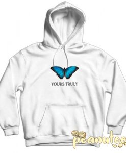 Yours Truly Blue Butterfly Hoodie pullover