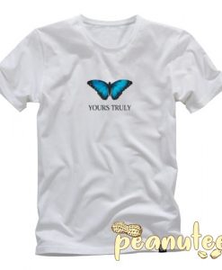 Yours Truly Blue Butterfly T Shirt