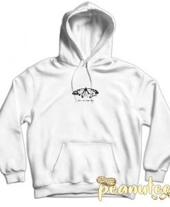 Yours Truly Love Is Fake Pain Is Real Butterfly White color Hoodies