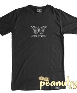 Yours Truly Rhinestone Butterfly T Shirt