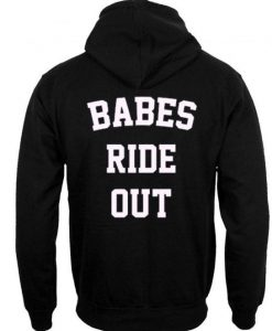 Babes ride out hoodie BACK ay