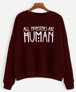 Burgundy Slogan Print Drop Shoulder Sweatshirt ay