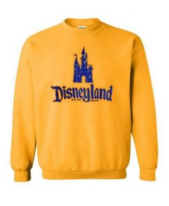 Castle Disneyland Yellow Sweatshirt