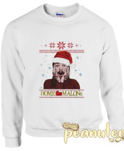 Home Malone Funny Post Malone Ugly Christmas Sweatshirt
