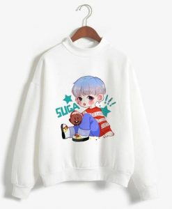 Kawaii Bts White Sweatshirt AY
