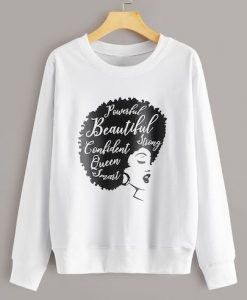 Letter And Figure Print Sweatshirt ay