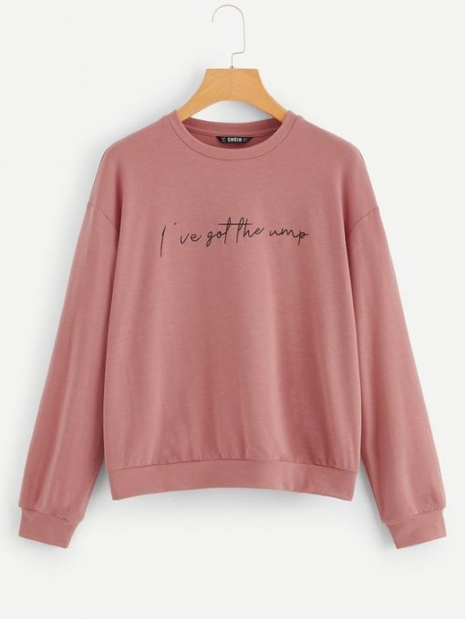 Letter Print Pullover ay