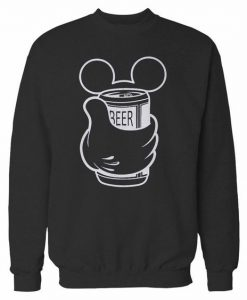 Mickey Beer Disney Sweatshirt ay