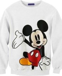 Mickey Mouse White Sweatshirt ay