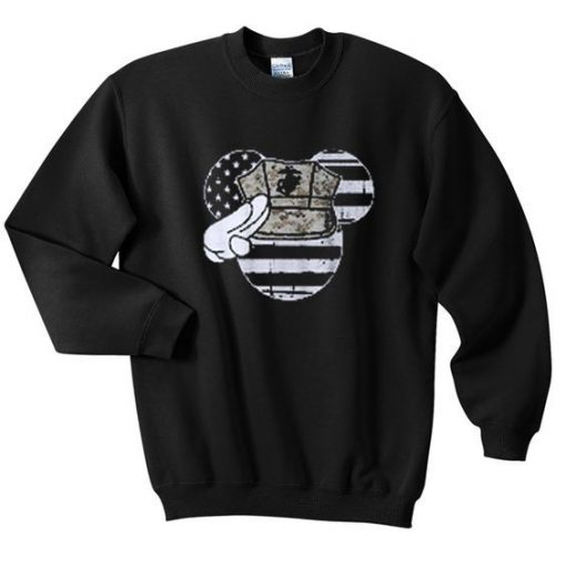 Mouse american flag sweatshirt AY