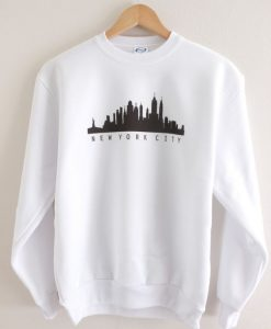 New York City Skyline Graphic Crewneck Sweatshirt ay