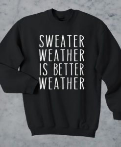 Sweater Weather Is Better Weather Sweater AY