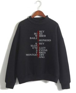 anatomy cast names Sweatshirt ay
