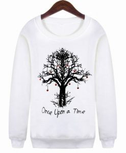 sleeved Once Upon a Time Gradient Loose Sweatshirt AY