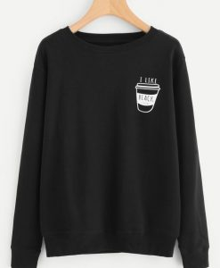 Coffee Print Sweatshirt online. ay