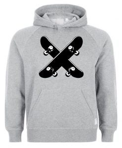 Crossed Skateboards Hoodie AY