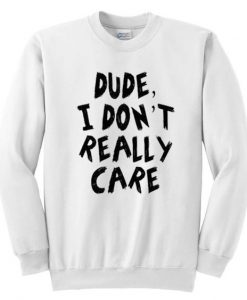 Dude I Don't Really Care Sweatshirt AY