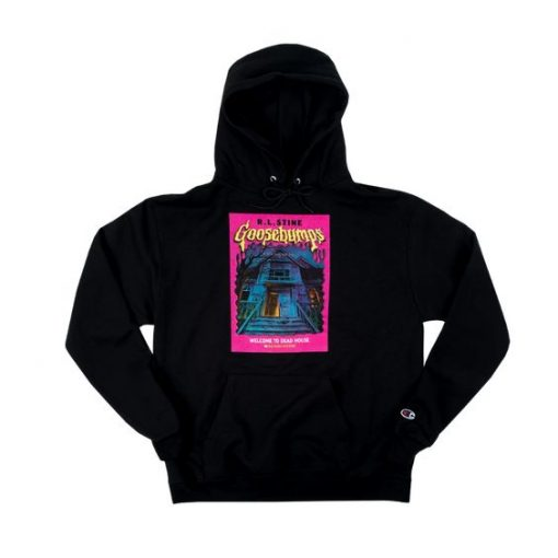Goosebumps Dead House Champion Black Hoodie AY