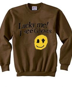 Lucky me i see ghosts sweatshirt AY