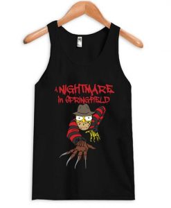 Nightmare in Springfield Simpsons Tanktop AY
