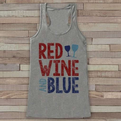RED WINE BLUE TANGTOP AY