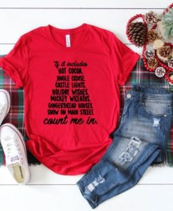 Disney Christmas count me in T-Shirt, AY