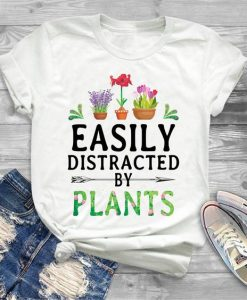 Official Easily distracted by plants shirt, AY