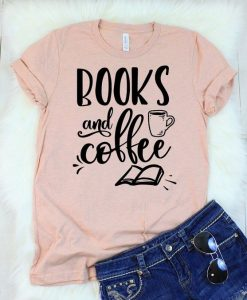 Books and Coffee T-Shirt AY