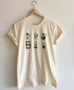 Coffee Screen Printed T Shirt AY