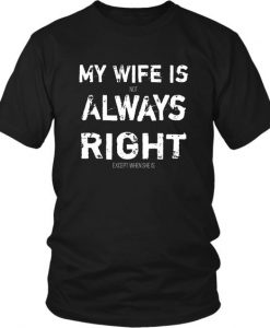 Funny Husband Tshirt My Wife is AY